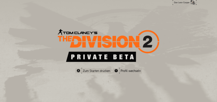 The Division 2 [PRIVATE BETA] played